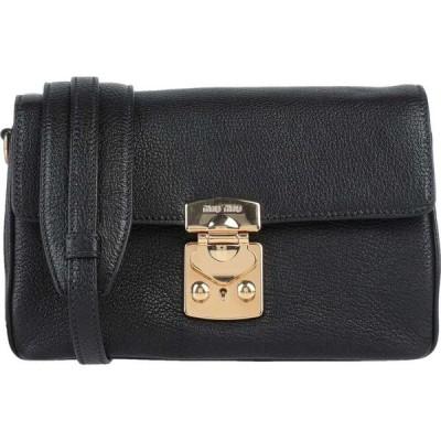 ミュウミュウ MIU MIU レディース ショルダーバッグ バッグ cross-body bags Black