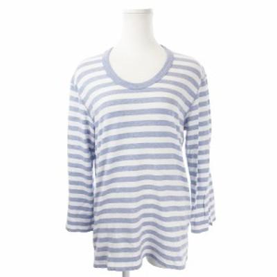 【中古】エディション Edition トゥモローランド Tシャツ カットソー ラウンドネック 長袖 ボーダー M 青 ブルー
