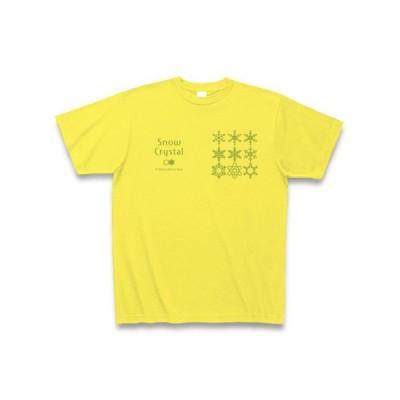 雪の結晶 Tシャツ(イエロー)