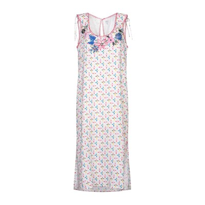 ペペ ジーンズ PEPE JEANS 7分丈ワンピース・ドレス ホワイト S レーヨン 100% 7分丈ワンピース・ドレス
