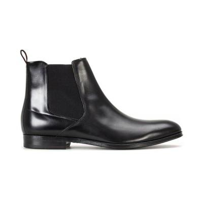 ヒューゴボス ブーツ&レインブーツ シューズ メンズ Men's Boheme Leather Chelsea Boots Black
