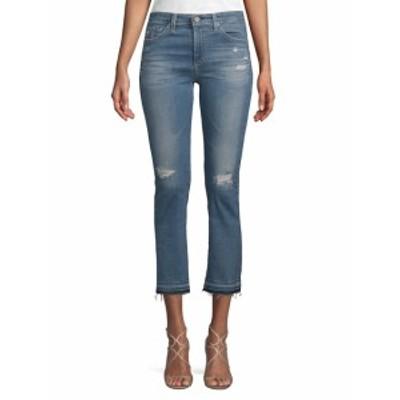 AG アドリアーノ ゴールドシュミード レディース パンツ デニム Distressed High-Rise Jeans