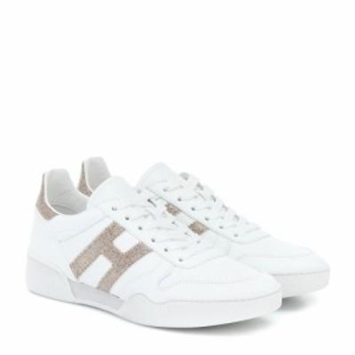 ホーガン Hogan レディース スニーカー シューズ・靴 H357 Retro leather sneakers Bianco/Platino