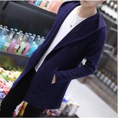 メンズパーカー メンズコート パーカーコート コート ジャケット ポンチョ 体型カバー 韓国風