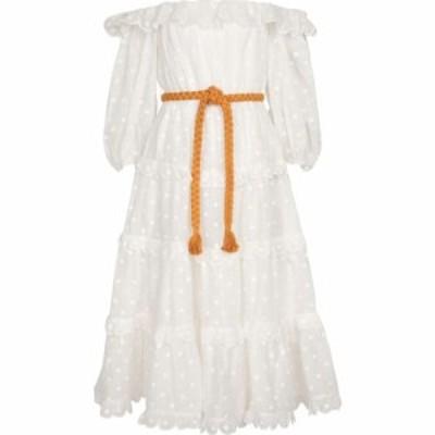 ジマーマン Zimmermann レディース ワンピース ワンピース・ドレス Off-shoulder ramie dress Ivory