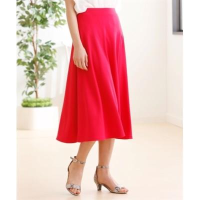 【大きいサイズ】 人気のためネット限定色追加!!カットソー無地フレアスカート(ミディアム丈) スカート, plus size skirts