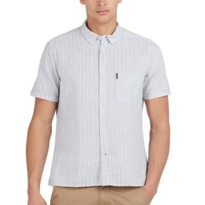 バーブァー メンズ シャツ トップス Men's Stripe Seersucker Shirt