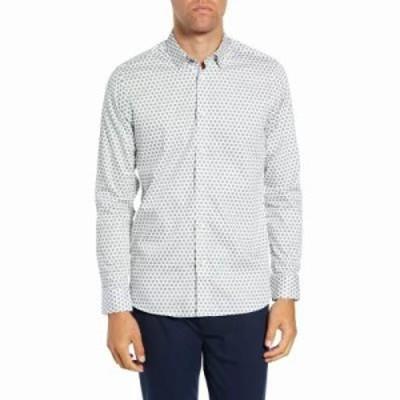 テッドベーカー シャツ Camdent Slim Fit Print Sport Shirt White