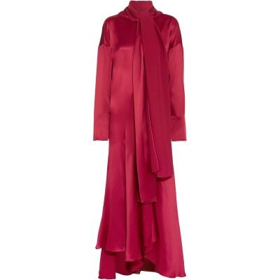 ROKSANDA ロングワンピース&ドレス ボルドー 16 シルク 100% ロングワンピース&ドレス