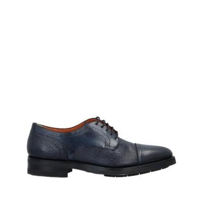 SANTONI レースアップシューズ ファッション  メンズファッション  メンズシューズ、紳士靴  その他メンズシューズ、紳士靴 ダークブルー