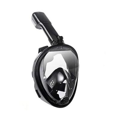Lightahead 180° Panoramic Full Face Scuba Snorkel Diving Mask Anti-Fog Anti