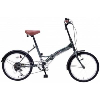 【粗品 記念品】 折畳自転車20インチ6段ギア セージグリーン  見積もり/まとめ買いに!