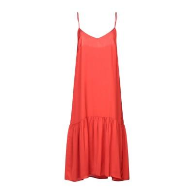 セミクチュール SEMICOUTURE 7分丈ワンピース・ドレス レッド 40 レーヨン 100% 7分丈ワンピース・ドレス