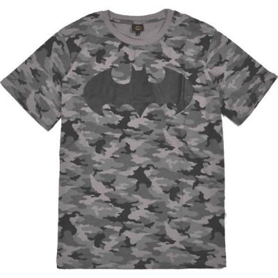 バットマン Tシャツ 半袖  フロント&バック全面プリント  サイズ:L  color:灰 品番:BA117229