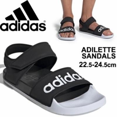 スポーツサンダル レディース シューズ/アディダス adidas アディレッタ ADILETTE SANDAL W/黒 ブラック DUZ26 スポーティ カジュアル 女