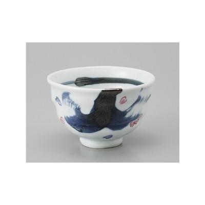 湯呑み 湯飲み 湯のみ茶碗 ゴス刷毛目桜ちらしゆったり煎茶 業務用 美濃焼 9a555-1-48g