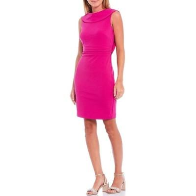 バッジェリーミシュカ レディース ワンピース トップス Olivia Drape Back Cowl Neck Sleeveless Dress Fuchsia