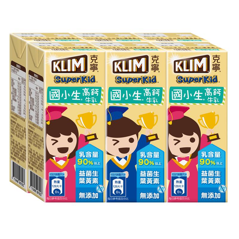 克寧國小生牛奶198ML