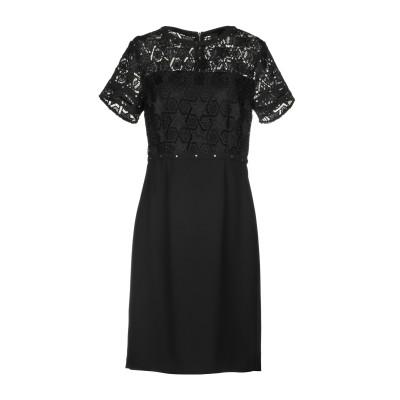 リュー ジョー LIU •JO ミニワンピース&ドレス ブラック 44 100% ポリエステル ミニワンピース&ドレス