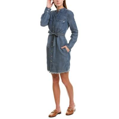 トリーナターク ワンピース トップス レディース Trina Turk Westside Linen-Blend Shirtdress indigo
