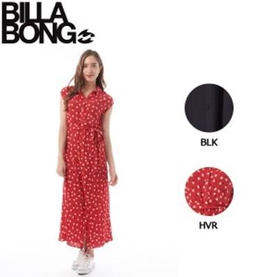 【BILLABONG】ビラボン 2019春夏 LITTLE FLIRT レディース シャツ ワンピース ノースリーブ ロング S BLK HVR