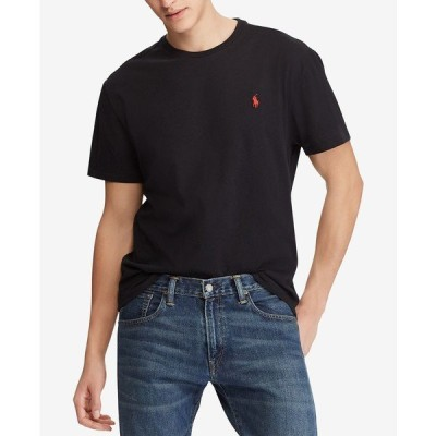 ラルフローレン Tシャツ トップス メンズ Men's Classic Fit Crew Neck T-Shirt Black