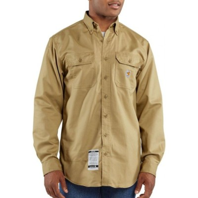 カーハート Carhartt メンズ トップス Flame Resistant Twill Long Sleeve Work Shirt (Regular and Big & Tall) Khaki
