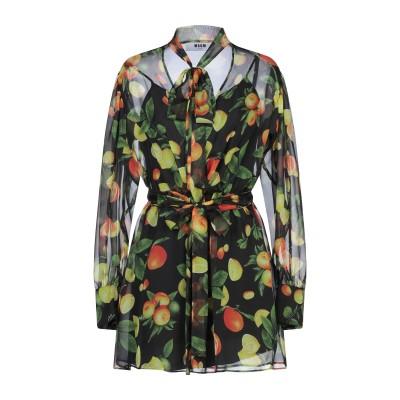 エムエスジーエム MSGM ミニワンピース&ドレス ブラック 40 ポリエステル 100% ミニワンピース&ドレス