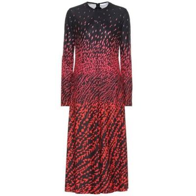 ジバンシー Givenchy レディース ワンピース ワンピース・ドレス Floral crepe dress Black/Red