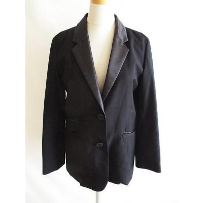 【中古】シンプリシテェ Simplicite テーラード ジャケット 薄手 衿付き 黒  レディース 【ベクトル 古着】