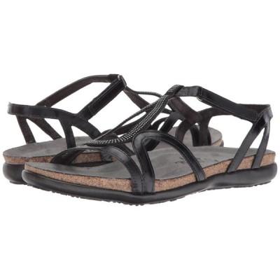ナオト Naot レディース サンダル・ミュール シューズ・靴 Tamara Black Madras Leather/Gunmetal Rivets