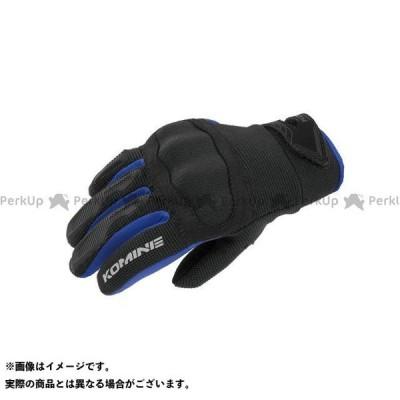 KOMINE メッシュグローブ 2020-2021秋冬モデル RGK-006 プロテクトキッズメッシュグローブ(ブルー) サイズ:KM コミネ