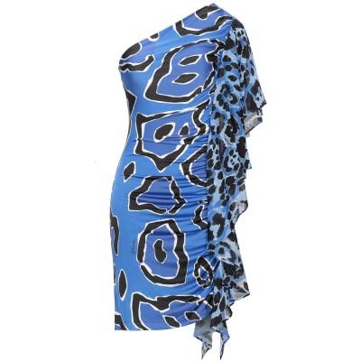 ジャストカヴァリ JUST CAVALLI ミニワンピース&ドレス ブルー 38 レーヨン 94% / ポリウレタン 6% ミニワンピース&ドレス