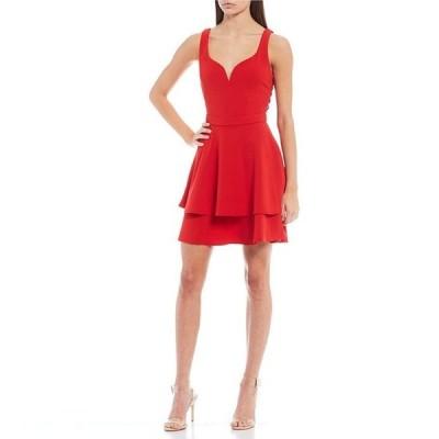 ビーダーリン レディース ワンピース トップス Sleeveless V-Neck Bar-Side Scuba Crepe Dress