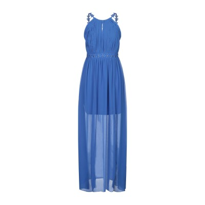 LIPSY ロングワンピース&ドレス ブルー 8 ポリエステル 100% ロングワンピース&ドレス