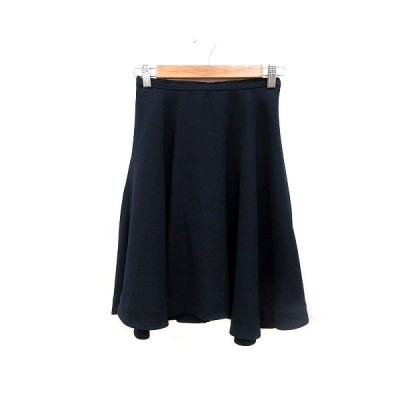 【中古】テチチ Te chichi フレアスカート ひざ丈 S 紺 ネイビー /MN レディース 【ベクトル 古着】