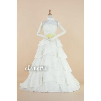 結婚式ドレス [送料込 無料] カラードレス 白 二次会 花嫁 ネックショール付き ウエディングドレス 7-11号(MS514)【中古】(リサイクル)