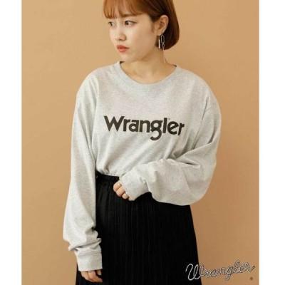 tシャツ Tシャツ 【別注】WRANGLER ロゴロングT*