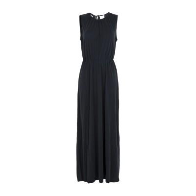 MINIMUM ロングワンピース&ドレス ブラック M レーヨン 65% / ポリエステル 35% ロングワンピース&ドレス