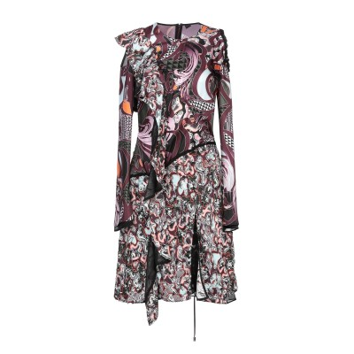 VERSACE ミニワンピース&ドレス ココア 38 レーヨン 75% / シルク 25% ミニワンピース&ドレス