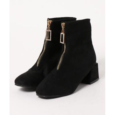 STYLEBLOCK / フロントファスナースエード調ショートブーツ WOMEN シューズ > ブーツ