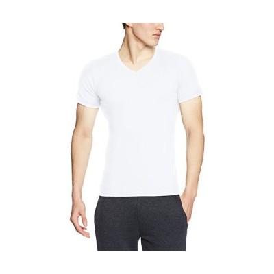 [ボディワイルド] Tシャツ リブ Vネック BWJ415J メンズ Newホワイト 日本L (日本サイズL相当)