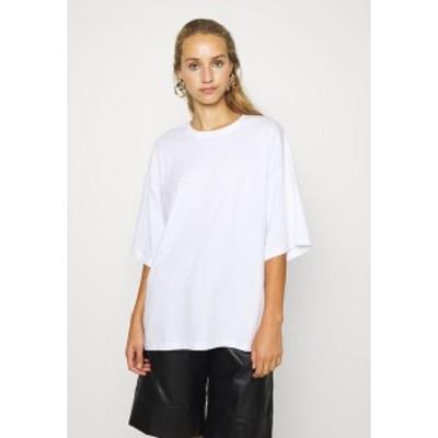 エブンアンドオッド レディース Tシャツ トップス Basic T-shirt - white white