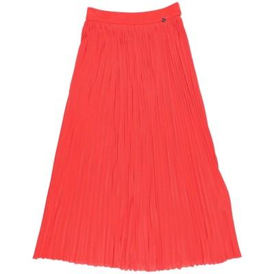 ELISABETTA FRANCHI 7分丈スカート オレンジ 38 レーヨン 97% / ナイロン 3% 7分丈スカート