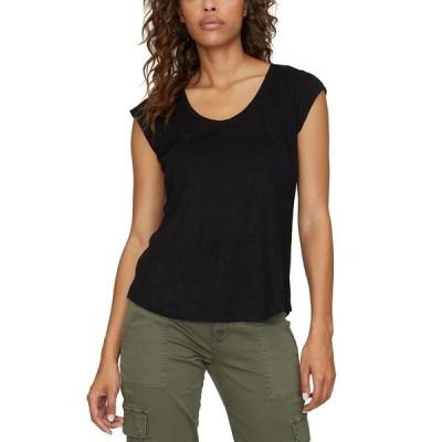 サンクチュアリー シャツ トップス レディース Alma Linen T-Shirt Black