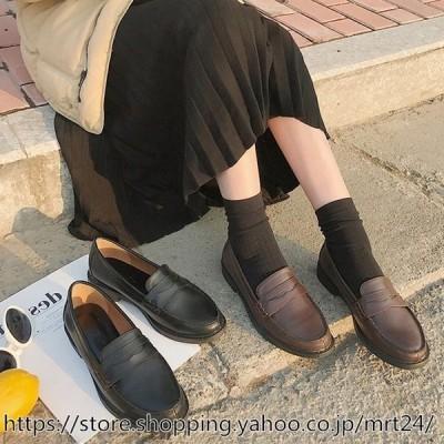 フラットシューズ 靴 レディース ローヒール 歩きやすい フラット パンプス ぺたんこ ローファー 柔らかい 歩きやすい フラットシュー 学生 OL マ 母