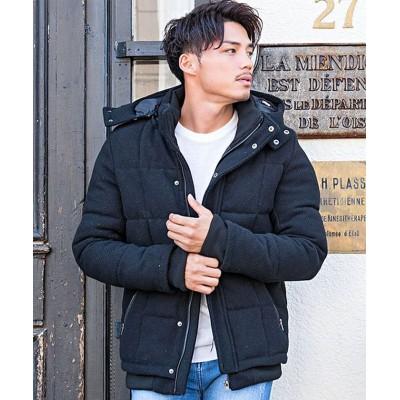 (VIOLA/ヴィオラ)VICCI【ビッチ】メルトンダウンミックスジャケット/メンズ ブラック