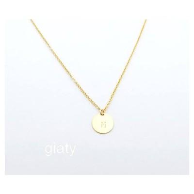 ハワイのジュエリー♪Gold Initial ネックレス、イニシャルネックレス、ゴールド