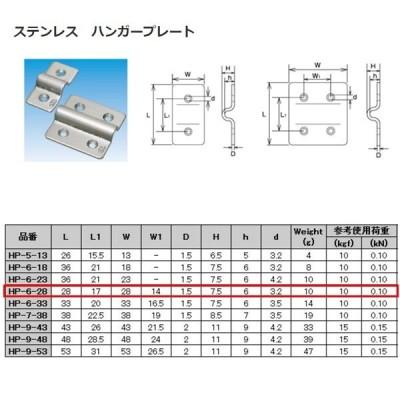 水本機械 ステンレス SUS304 ハンガープレート HP-6-28