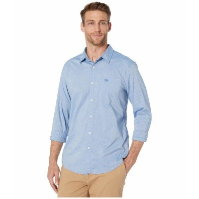 ドッカーズ シャツ トップス メンズ Supreme Flex Modern Fit Long Sleeve Shirt Zeller Refined Shirting Delft Embroidery